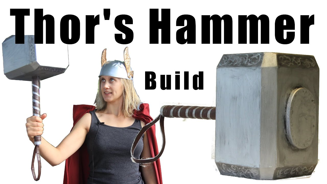 building thor s hammer for a halloween costume youtube