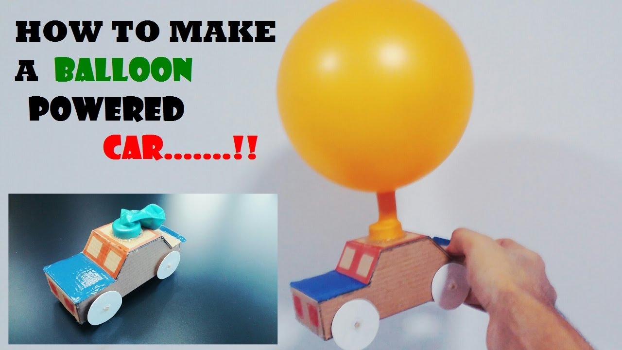 How To Make A Balloon Powered Car Very Simple Youtube