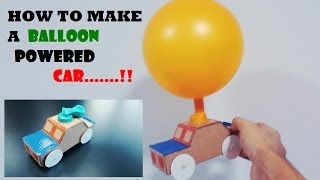 How to Make a Balloon Powered Car....Very Simple!!