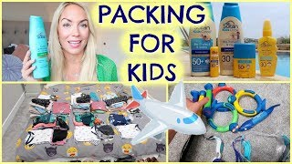 HOW I PACK FOR 3 KIDS |  AD |  PACKING FOR KIDS  | EMILY NORRIS