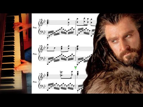 The Hobbit - Misty Mountains Advanced Piano Cover with Sheet Music