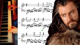 Sheet Music - The Hobbit Dwarves Song on Piano (Misty Mountains)