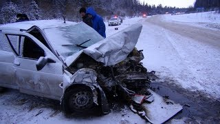 Подборка ДТП, АВАРИЙ на 6 ЯНВАРЯ 2019 (06.01.2019)  A selection of accidents on January 6, 2019