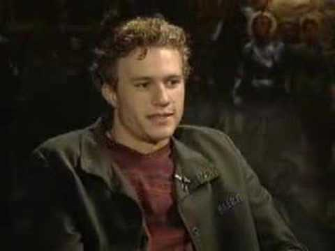 "Heath Ledger interview after ""A Knight's Tale"""