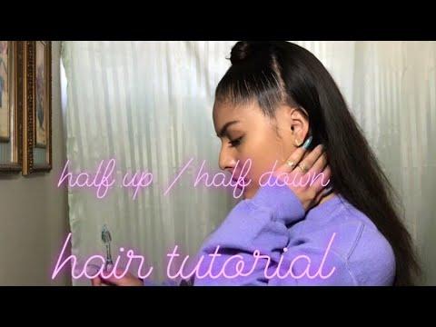 HALF UP X HALF DOWN HAIR DO🤩