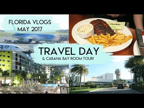 Travelling to Orlando & Cabana Bay Room Tour | Florida Vlogs May 2017 | Elle and Mimi