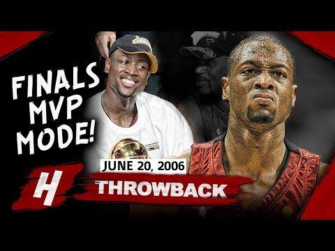 Young Dwyane Wade Full Game 6 Highlights vs Mavericks 2006 NBA Finals - 36 Pts, 10 Reb, FINALS MVP