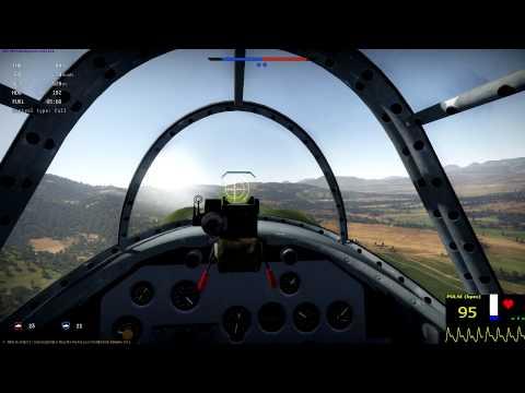 War Thunder- La-5 Full Real Battle- Heartbeat Monitor Gameplay