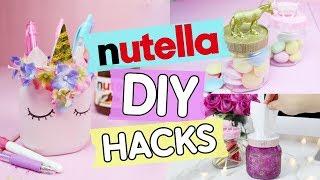 4 einfache Nutella DIY Hacks ♥ Leere Nutella Gläser zu Tumblr Deko upcyceln!