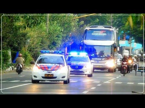 MOMEN SPESIAL - Pengawalan Khusus Bus Pandawa 87 Premium Class | Ada Teloletnya