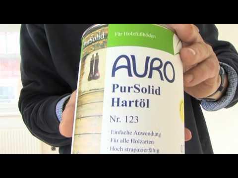 Natürliche Fußbodenbehandlung mit AURO Naturfarben - System Pur Solid