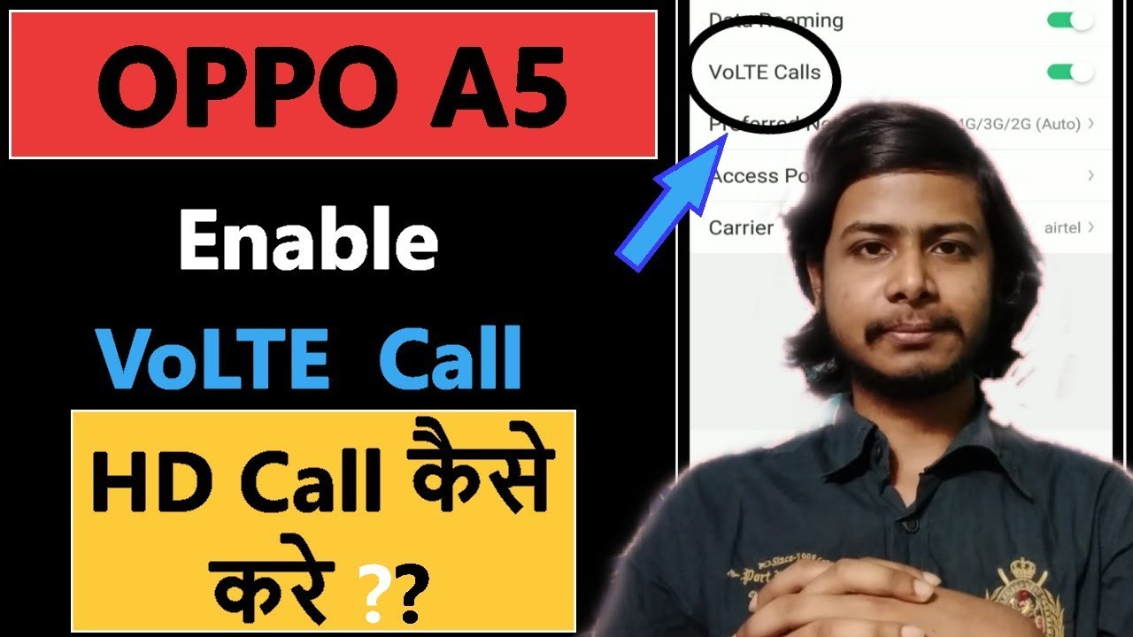How to enable VoLTE call in oppo A5 | VoLTE Call settings