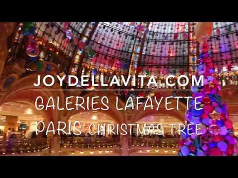 Galeries Lafayette Paris CHRISTMAS TREE 2017 | JoyDellaVita Travelblog