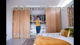 Building a 13ft Long Modern Closet!