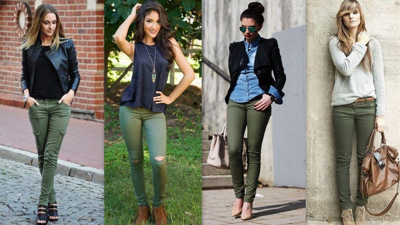 Pantalon Verde Militar Mujer Tienda Online De Zapatos Ropa Y Complementos De Marca