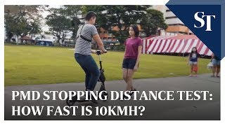 PMD stopping distance test: How fast is 10kmh?