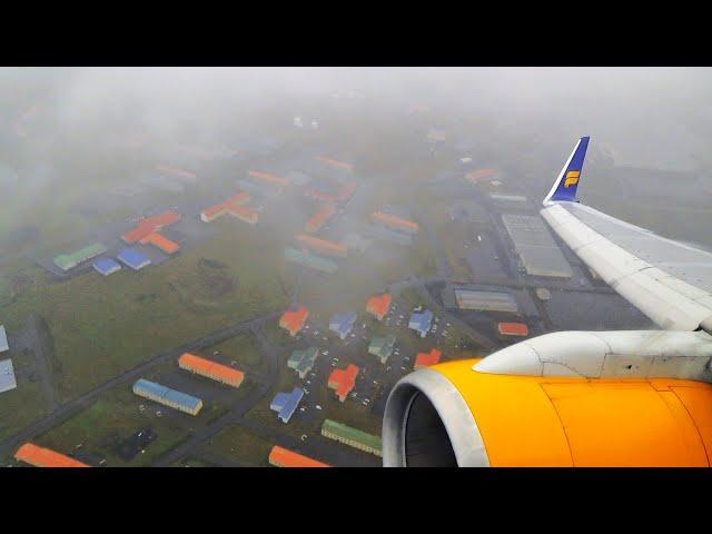 Icelandair Boeing 757 landing at Reykjavik Airport