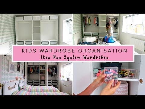 KIDS WARDROBE ORGANISATION- IKEA PAX SYSTEM WARDROBES