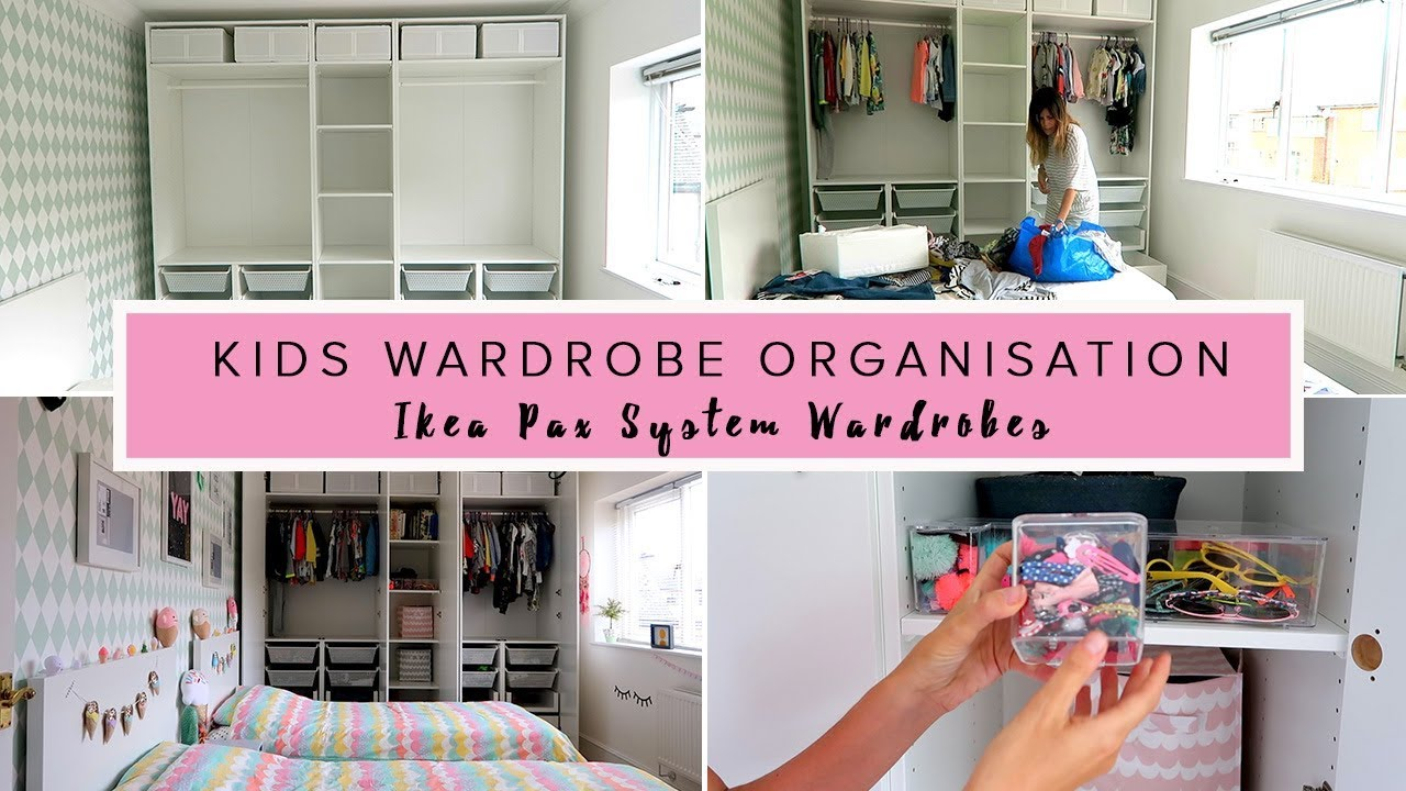 KIDS WARDROBE ORGANISATION IKEA PAX SYSTEM WARDROBES YouTube