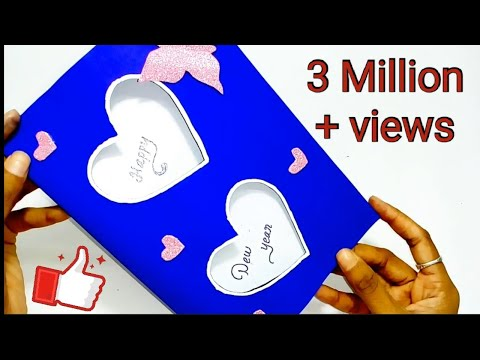 New year greeting card|| How to make greeting card for New year||Paper greeting card|| Queen's home