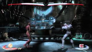 Injustice: Gods Among Us: The Flash Vs. Cyborg gameplay (Xbox 360)(Check out this gameplay demo of The Flash Vs. Cyborg from Injustice: Gods Among Us. Follow Injustice: God Among Us at GameSpot.com!, 2012-07-15T03:00:08.000Z)