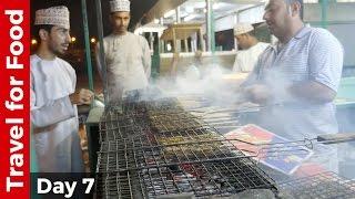 Nizwa, Date Palm Oasis, and Omani Street Food Mishkak
