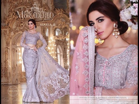 f514464041 Maria B Mbroidered Eid Collection 2017 - YouTube