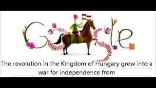 Hungarian Revolution of 1848 Google Doodle Logo 2013