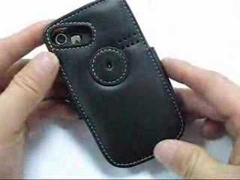 PDair Leather case for HTC S620 - Book Type (Black)