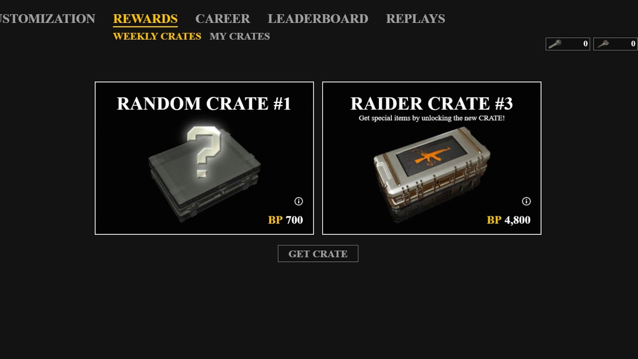 PUBG | Future weekly drop | Weapon case opening | RAIDER CRATE