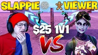 Viewers *CHALLENGE* TSM Slappie 1v1 in Creative Fortnite For $25 | Fortnite Montage