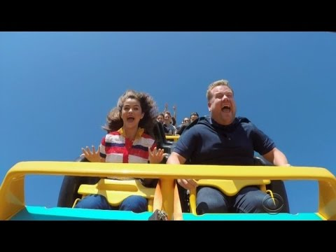 Watch Selena Gomez Sing Karaoke While Riding a Roller Coaster