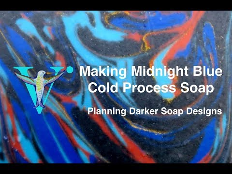 Making Midnight Blue  Designing Darker Soaps