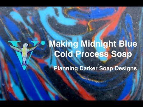 Making Midnight Blue  Designing Darker Soaps