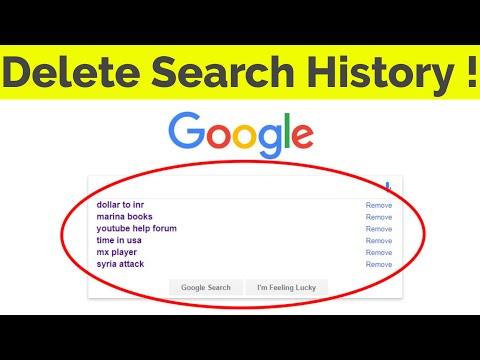 How To Delete Clear Google Search History Suggestions Permanently