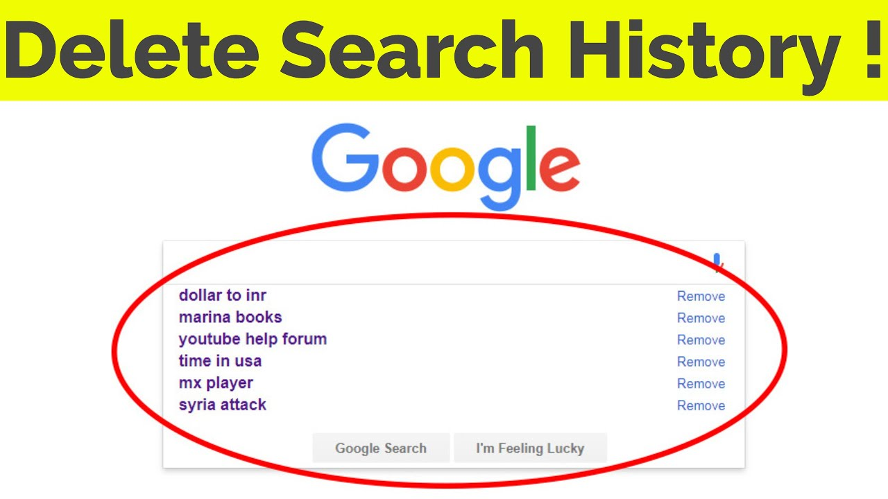 How To Delete Clear Google Search History Suggestions Permanently On Google Chrome 2021 Youtube
