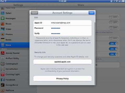 Change phone number on apple id ipad mini
