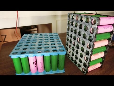DIY 52v (48v) 16AH Lithium-Ion 18650 E-Bike battery pack (E-Trike v1.6)