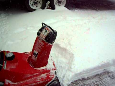Captivating Honda HS35 Single Stage Snowblower Blowing Colorado Snow