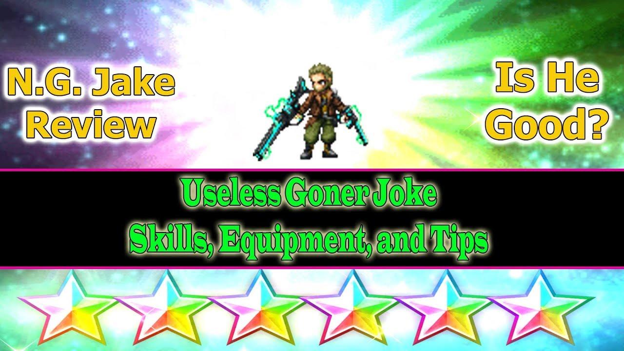 Final Fantasy Brave Exvius 6 Stars Nameless Gunner Jake Aka Cg Jake