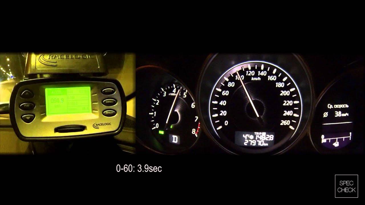 Mazda 6 2 5 Skyactiv 6AT 0 100 racelogic acceleration 402m