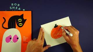 How to draw a spooky pumpkin