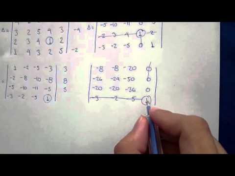 algebra lineal determinante 5x5 metodo de chio youtube. Black Bedroom Furniture Sets. Home Design Ideas