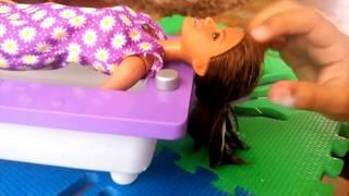 Eksperimen Rambut Jabrik Mohawk Boneka Barbie