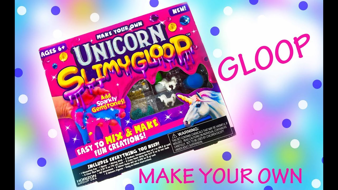 UNICORN GLOOP SLIME - Make Your Own Magical Glitter Slime