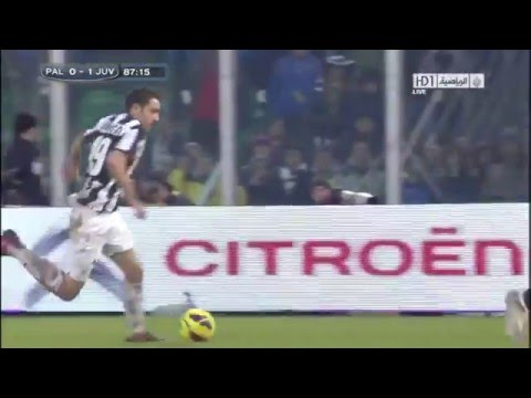 Leonardo Bonucci DIVE in Serie A - Palermo vs Juventus 0-1 09-12-2012