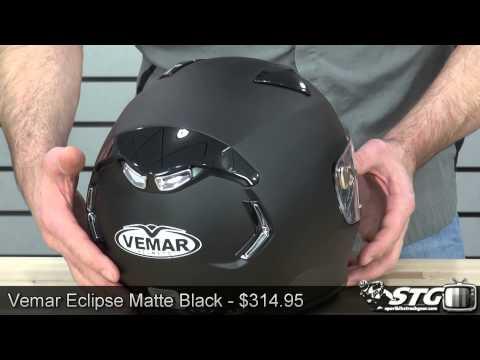 Vemar Eclipse Matte Black Helmet Review from Sportbiketrackgear.com