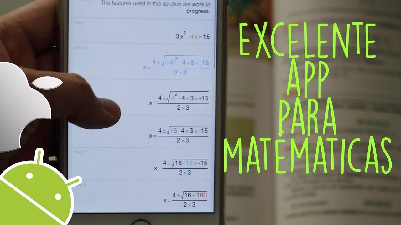 App Para Resolver Cualquier Problema de Matematicas - YouTube