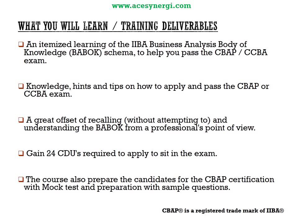 Business Analyst Certification Training Cbap Youtube