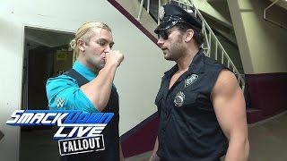 Breezango schmeißen sich in Schale, um bei backstage aufzuräumen: SmackDown LIVE Fallout, 25. Okt.